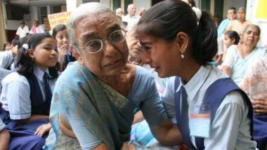 Real Story Behind Viral Photo of Crying School Girl-Grandmother at an Old Age Home Unfolds; Watch Video