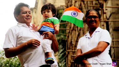 Taimur Ali Khan Looks Adorable in Tricolour As He Celebrates Independence Day for the First Time (View Pics)