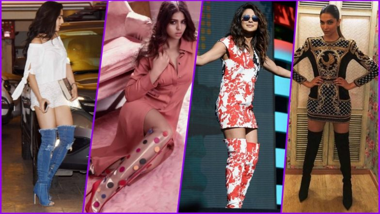 Thigh High Boots Are So Hot! From SRK's Daughter Suhana Khan to Priyanka Chopra, See Most Stylish Over-the-Knee Boots Pics of Celebs