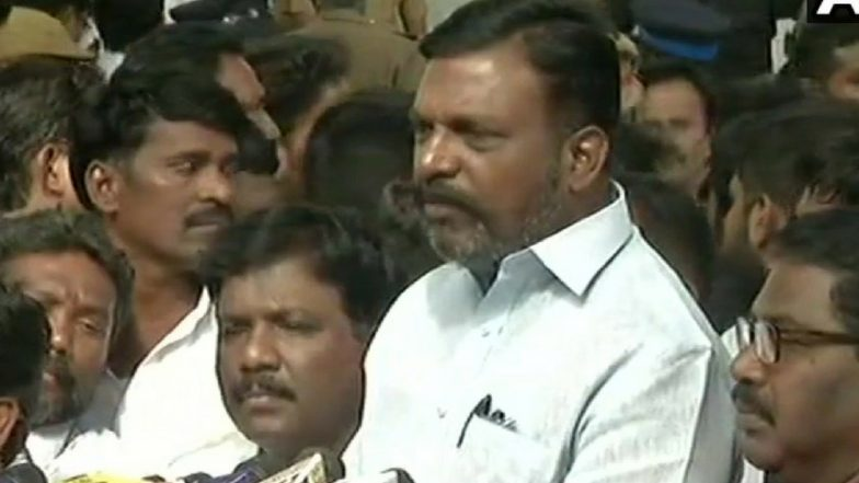 Karunanidhi Death: Bharat Ratna & Memorial Near Anna Samadhi for Kalaignar, Demands VCK Chief Thol Thirumavalavan