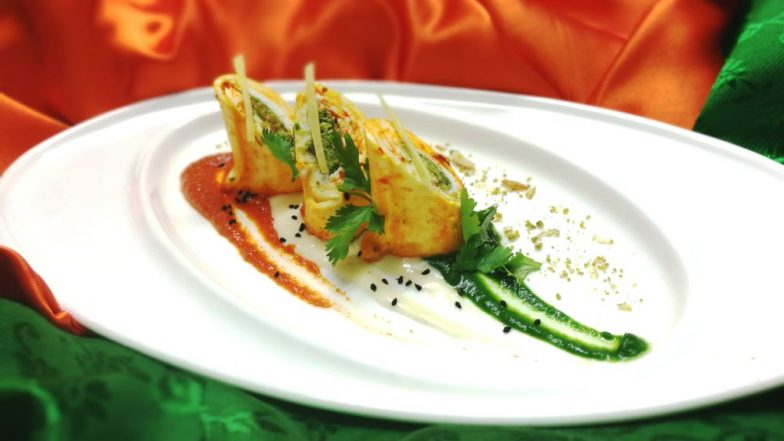 Independence Day Recipe: Melt-In-Your-Mouth Shahi Tiranga Rolls To Celebrate 72nd Year of Indian Independence