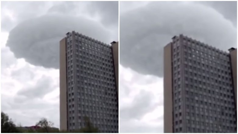 UFO Shaped Cloud Appears Over Moscow, Causes Frenzy Among People, Watch Video!