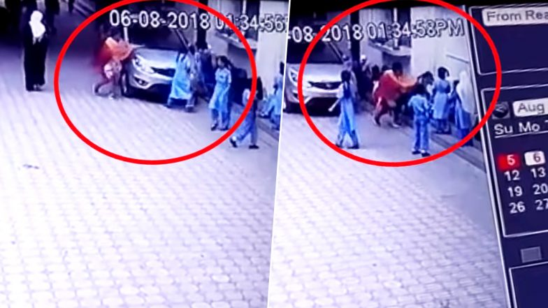 Aurangabad Teacher Thrashes Student for Touching Her Car (Watch Video)