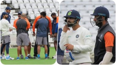 Ind vs Eng 3rd Test: Captain Virat Kohli Happy with Team India's Practice Session (See Pics)