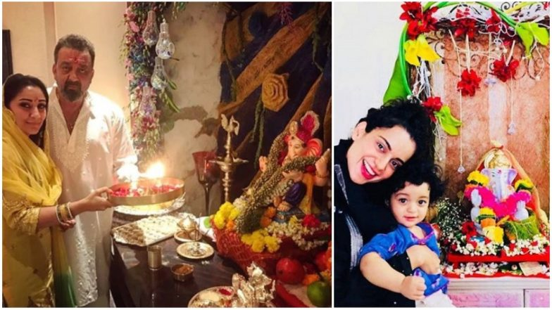 Ganesh Chaturthi 2018: Sanjay Dutt, Madhuri Dixit, Kangana Ranaut Share Wishes on the Auspicious Occasion – See Pics