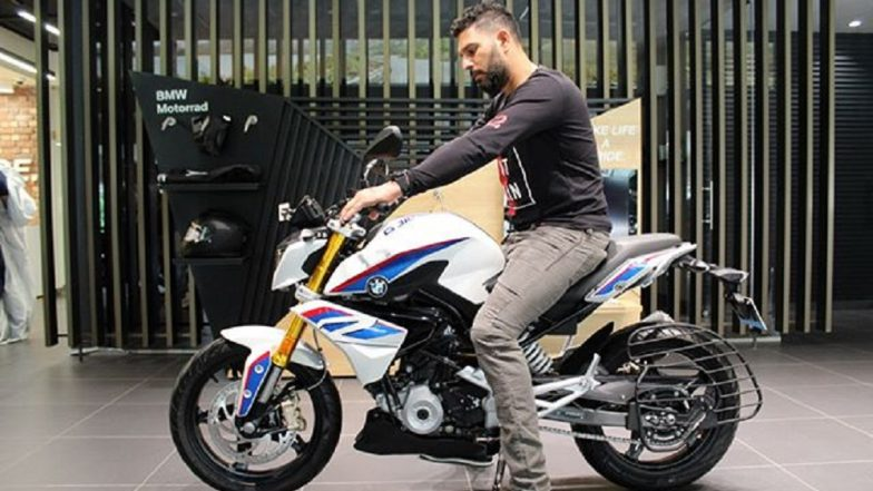 Indian Cricketer Yuvraj Singh Becomes a Proud Owner of Brand New BMW G 310 R Motorcycle