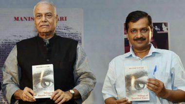 Delhi CM Arvind Kejriwal Urges Former BJP Leader Yashwant Sinha to Contest 2019 Lok Sabha Elections