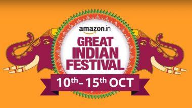 Amazon Great Indian Festival Sale 2018 To Begin From October 11; Huge Discounts on Smartphones, Smart Speakers, TVs and More