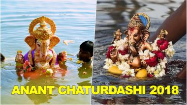 Ganesh Visarjan HD Images, Photos & Wallpapers for Free Download Online: Beautiful GIF Greetings & Picture Messages of Ganpati Bappa to Wish on Anant Chaturdashi 2018!
