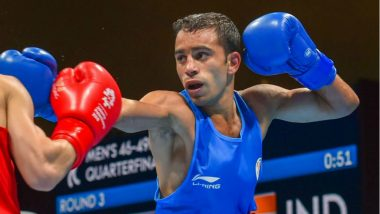 Amit Panghal Wins Gold Medal in Men's Boxing 49kg Event at Asian Games 2018, Takes India's Medal Tally to 66