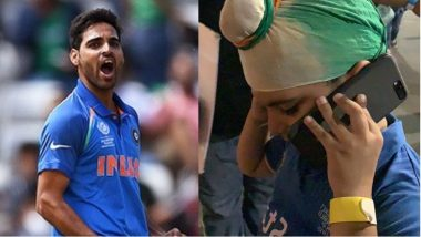 Here's How Bhuvneshwar Kumar Cheered the Crying Kid Following India vs Afghanistan Tie Match in Asia Cup 2018