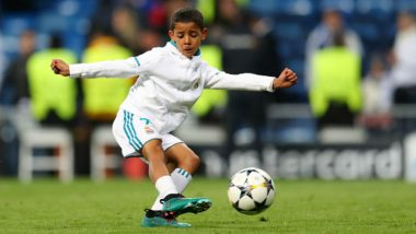 Cristiano Ronaldo Junior Wins Best Striker Award for Juventus Under-9s (See Pics)