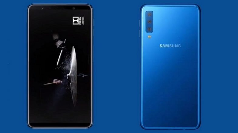 Samsung Galaxy A7 Smartphone With Triple Rear Cameras Launching in India on September 25
