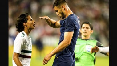 Chelsea's Matt Miazga Mocks Mexico's Diego Lainez's Short Height During an International Friendly Football Match: Watch Video