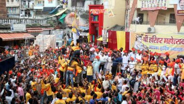 Dahi Handi 2019 Photos: From Janmashtmi in Mumbai Local Train to Human Pyramid in Five Seconds, Here Is a Glimpse of Gokulashtami Celebrations (Watch Videos)
