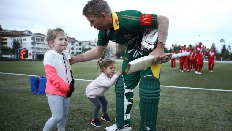 Steve Smith Scores Half-Century, David Warner Century on Comeback: Suspended Cricketers Return to Grade Cricket in Australia (Watch Video)
