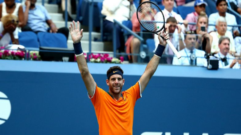 Del Potro beats Isner and heat to reach U.S. Open semis