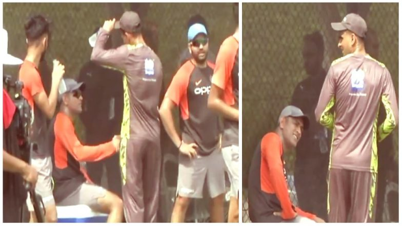 Shoaib Malik Shares A Friendly Moment With MS Dhoni During Practice Session Ahead Of Their Asia Cup Clash on September 19: Watch Video