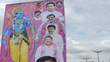 Telangana CM KCR Depicted As Lord Rama In TRS Poster Ahead Of Pragathi Nivedhana Sabha