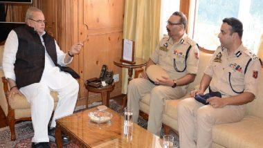 Jammu And Kashmir DGP Meets Governor Satya Pal Malik To Discuss Security Arrangement Ahead Of Urban Local Body Polls