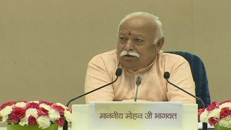RSS Chief Mohan Bhagwat Rakes Up Ram Temple Issue At 'Bharat Of Future'; 'Building Temple Will Unite Hindus And Muslims'
