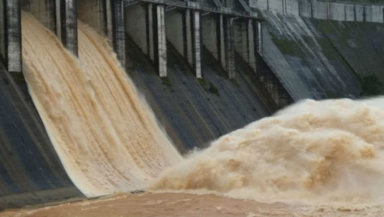 Cyclone Daye Causes Heavy Rainfall and Flooding in Parts of Odisha, Two Shutters of Upper Kolab Dam Opened; Watch Video