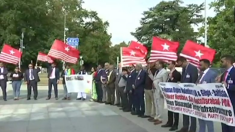 PoK Political Activists Hold Protest Against Pakistan Outside United Nations Human Rights Council In Geneva