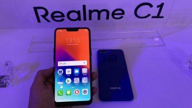 Realme C1 Bugdet Smartphone Launched in India at Rs 6990; Online Sale on October 11 at Flipkart
