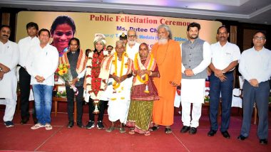 Dutee Chand Felicitation Ceremony: Odisha Governor Ganeshi Lal Felicitate Asian Games 2018 Silver Medalist
