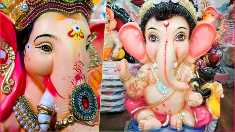 Ganesh Chaturthi HD Images, Photos & Wallpapers for Free Download Online: Beautiful GIF Greetings & Picture Messages of Ganpati Bappa to Wish on Ganeshotsav 2018!