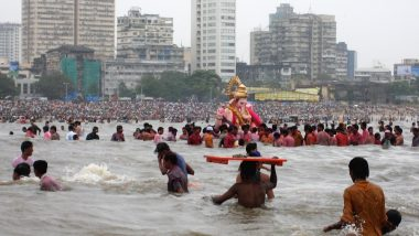 Ganesh Chaturthi 2021: Over 34,000 Idols Immersed on Anant Chaturdashi in Mumbai; 3 Boys Who Ventured Into Sea Still Missing