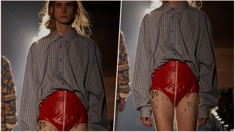 Gucci Presents New Red Vinyl Shorts at Spring Summer 2019; Omar Abdulla Takes a Dig on the Brand in a Viral Tweet