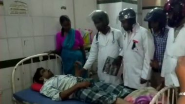 Doctors Wear Helmet While Treating Patients at Osmania General Hospital in Hyderabad, View Pics of The Unique Protest