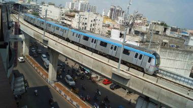 Hyderabad Metro Rail Route Between Ameerpet and L B Nagar Inaugurated by Governor ESL Narasimhan