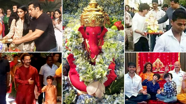 These Pics of Shah Rukh Khan, Salman Khan and Aamir Khan From Ganesh Chaturthi Celebrations Prove That Festivals Transcend the Barriers of Religion