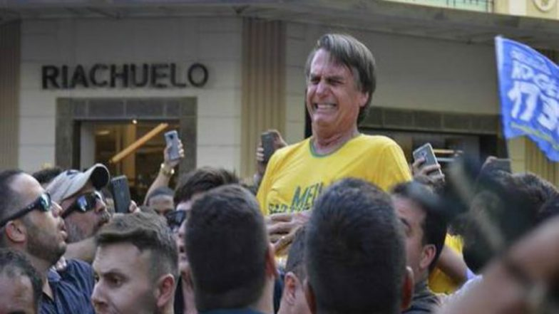 Brazilian Presidential Candidate Jair Bolsonaro Stabbed at Campaign Rally; Critical in Hospital (Watch Video)