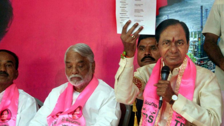 TRS Releases Manifesto For Telangana Assembly Elections 2018; Promises Rs 1 Lakh Farm Loan Waiver, Rs 3,016 Stipend For Unemployed Youth