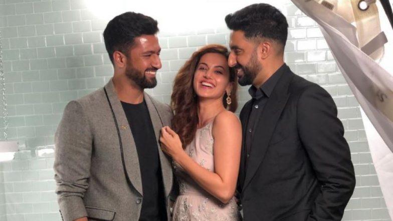 Manmarziyaan Trio Taapsee Pannu, Abhishek Bachchan And Vicky Kaushal Take Over TIFF '18 - View Pics