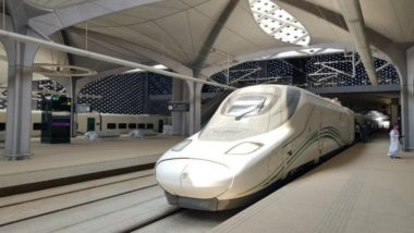 Saudi King Salman bin Abdulaziz Inaugurates Mecca-Medina High Speed Train Line