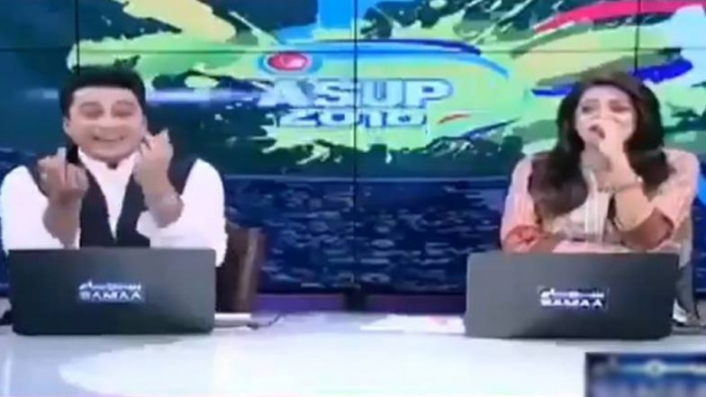 Pakistani TV News Anchor Shows Middle Finger On Live Bulletin Covering Asia Cup 2018 Match