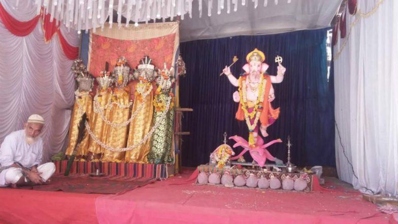 Hindus and Muslims Unite Together, Muharram Sawari, Ganesh Idol Installed Under One Roof in Maharashtra Village