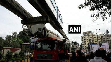 Mumbai: Monorail Train Services Disrupted Near Chembur Naka Station Due to TV Cable Wires