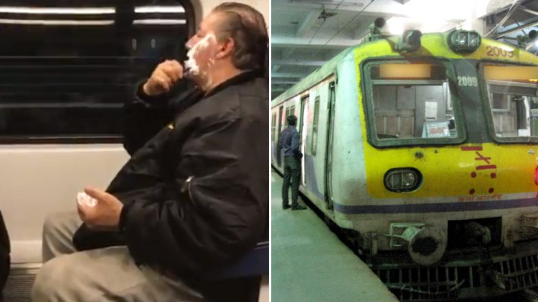 Video of Man Shaving Beard and Drinking Beer on Train in New Jersey, but Here Are Some Things That Can Be Done Only on Mumbai Locals