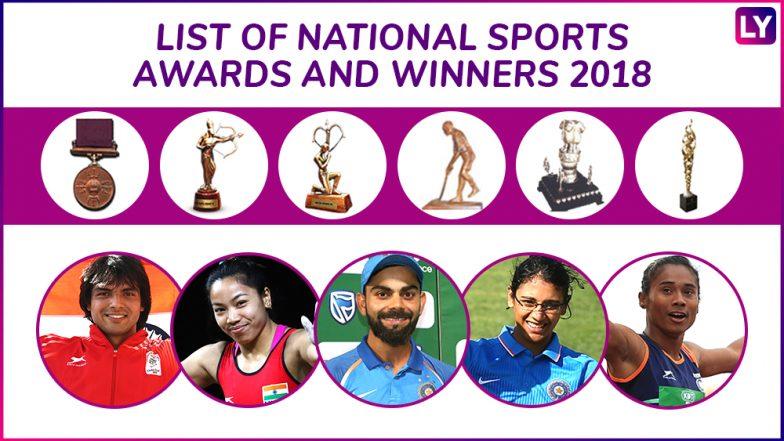 National Sports Awards 2018, Check Full List of Winners: Mirabai Chanu, Virat Kohli to Get Rajiv Gandhi Khel Ratna; Smriti Mandhana, Neeraj Chopra, Hima Das to Get Arjuna Awards