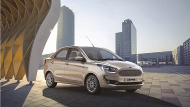 2018 Ford Aspire Facelift Compact Sedan Launching in India Today; Watch the Live Streaming Here