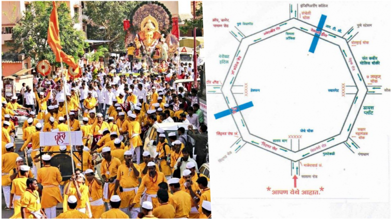 Ganpati Visarjan 2018 in Pune: Check Immersion Route, Road Map, Traffic Advisory, Roadblocks and Parking Spots For Anant Chaturdashi