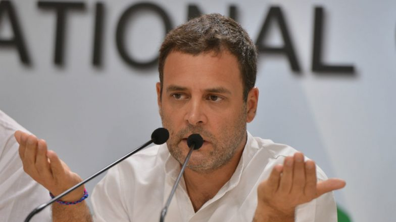 Rahul Gandhi Attacks PM Narendra Modi Ahead of Assembly Elections 2018: 'BJP Works for Few Rich, Congress Thinks of Poor'