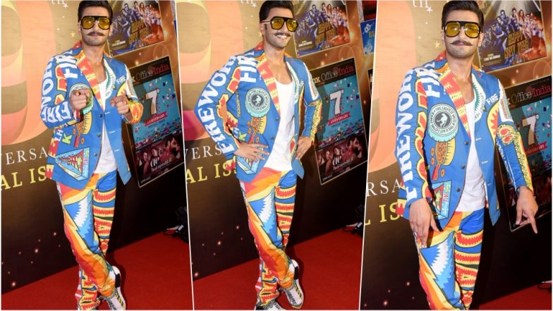 Ranveer Singh Looks Like a Pataka (Quite Literally) in His Latest Fireworks Outfit, See Pics