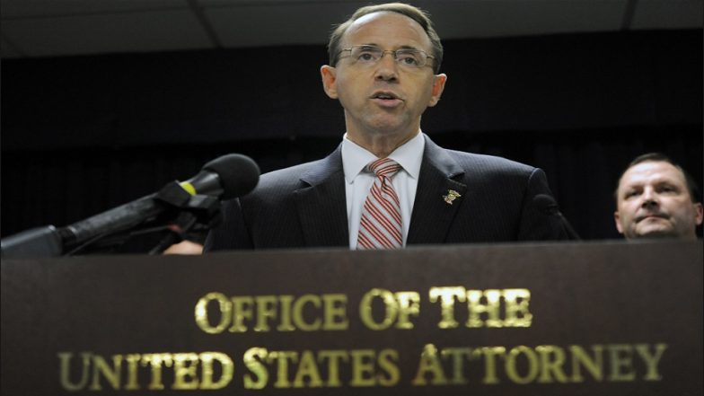 U.S. Deputy Attorney General, In Charge of Russia Investigation Offers to Resign as He Is Accused of Plotting Trump's Removal