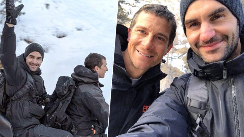 Roger Federer Eats Fish Eyeballs on Running Wild With Bear Grylls on Snowy Swiss Mountains, Watch Video!
